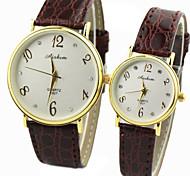 rodada de discagem pu banda quartzo relógio de pulso de moda do casal
