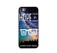 Personalized Gift Hope in The Things Design Aluminum Hard Case for iPhone 5/5S