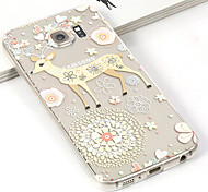 Fashion 3D Flower&Deer TPU Cartoon Soft Case for Samsung Galaxy S6 G900