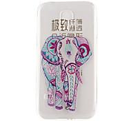 modello elefante materiale TPU soft phone per mini galassia s5