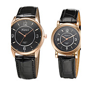 2015 Brand Big Dial wristwatch for Lover Men Women Watches Fashion Casual PU Leather Couple Dress Watch