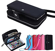 Designed Split Genuine Leather Wallet Case Full Body Case for iPhone 6 Plus (Assorted Colors)