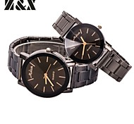 Couple's Fashion Lovely Simple Calibration Quartz Steel Belt Wrist Watch(Assorted Colors) Cool Watches Unique Watches