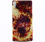 Fire Pattern TPU Material Phone Case for Sony Xperia Z3
