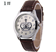 Men's Women's Fashion Crown Digital Disc Belt Chinese Watch Movement(Assorted Colors)