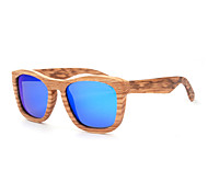 Polarized Wood Square Sunglasses