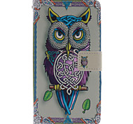 Fashion Design COCO FUN® Cute Purple Owl Pattern Wallet Slot Full Body PU Leather Case for LG G4
