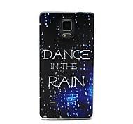 coco de la marche dans le motif de pluie TPU doux IMD de couverture de cas pour Samsung Galaxy Note 4