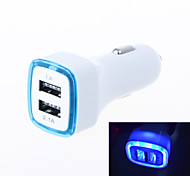 Luminous Aperture Design 3.1A Double Port USB Universal Quick Car Charger Adapter (12-24V)(Assorted Colors)