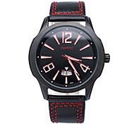 2015 Men's Leather Watches Brand New Quartz Watch Men's Fashion Watches Table Simple and Stylish Design