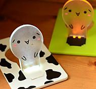 Energy Saving Ideas Unplugged Battery Small Night Lamp Light Card(Random color)