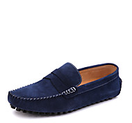 Men's Shoes Casual Leather Loafers Blue/Red/Black
