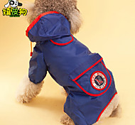 HipiDog® Red/Blue/Orange Waterproof Mixed Material Rain Coat For Dogs
