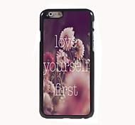 liebe dich selbst erste Design Aluminium-Qualitätsfall für iphone 6 Plus