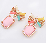 New Arrival Fashional Pearl Bow Gem Earrings