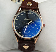 Men's Simple Neutral Casual Large Quartz Movement Of The Wrist Watch