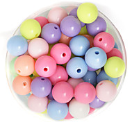 Beadia 100g(Approx 100Pcs)  Fashion 10mm Round Acrylic Beads Mixed Spring Color Plastic Loose Beads DIY Accessories