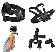 4-en-1 kit d'accessoires de l'appareil photo de sport pour GoPro Hero 4/3 / 3+ / sj4000 / sj5000 / sjcam / xiaoyi