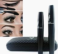 2PCS 3D Moodstruck Thick Eyelashes Fiber Lashes Black Waterproof Eye Lash Mascara Set(Transplanting Gel&Fibers)