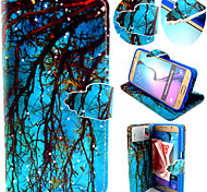 Blue Branch Pattern with Card Bag Full Body Case for Samsung Galaxy S6/ S6 Edge