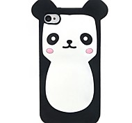 ZIQIAO Cute Cartoon Bear Style Protective Soft Silicone Back Case for Iphone 4 / 4S