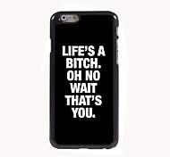 la vita è un caso di alta qualità di alluminio di disegno spiaggia per iphone 6 più