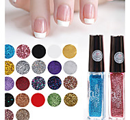 French Nail Art Bgirl Dotted Pen Glitter Nail Art Polish Lacquer Fingernail Drawing Brush(22 Colors Available ,10ml)