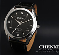 CHENXI® Men's Dress Watch Business Design Black Leather Strap Wrist Watch Cool Watch Unique Watch