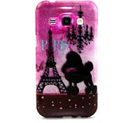 Romantic Tower Pattern Glitter TPU Cell Phone Soft Shell For Galaxy J1/ J5 /J7 /G530 /G360