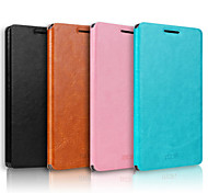 For OPPO Case with Stand / Flip Case Full Body Case Solid Color Hard Genuine Leather OPPO