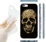 Leopard Grain Skull Pattern TPU Soft Back Case for iPhone 6/6S