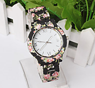 Women Deluxe Silicone Strap Flower Style Jelly Sports Analog Quartz Wrist Watch