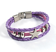 Fashion Unisex's Star Weave Leather Bracelets 1pc