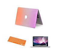 """3 in 1 Regenbogen matte Ganzkörper-Fall mit Tastatur Abdeckung und Bildschirmschutz für MacBook Air 11,6 """"(verschiedene Farben)"""