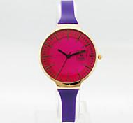 Women's Analog Alloy Case Round Dial Plastic Band Quartz Watch Women Fashion Watch Ladies Watch Gift Watch