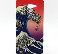 Waves Pattern TPU Material  Phone Case for Sony Xperia M2