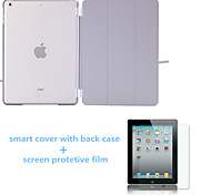 Solid Colors Auto Sleep Leather Stand Case with Back Cover and Screen Protector for iPad 234 (Assorted Colors)