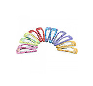 12 PCS Girls Kids Iron Hair Clip Snap Accessories Gift