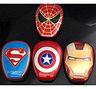 Bright Iron Man charging treasure Phone charging bank Universal For iPhone / android