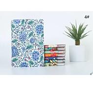 caso cabeza diseños de flores panited cubierta de la caja en folio de plástico duro con soporte para Apple iPad Mini 1/2/3 (color