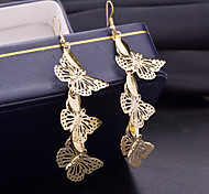 Top Quality Hollow Out Butterfly Water-drop Shape Drop Earrings for Wedding Party