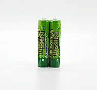 2Pcs PKCELL Colorful 1.6V 900mAh AAA Ni-ZN Rechargeable Batteries