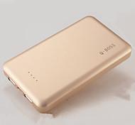 pacco batterie ai polimeri di litio batteria di backup di dati doppio porta esterna q-boss 10000mAh per cellulari e tablet