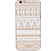 holle bloempatroon ultradunne harde Cover Case voor iPhone 6 plus