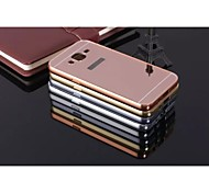 Special Design High quality Solid Color Metal Bumper Plating mirror Back Cover for Samsung Galaxy J7