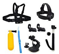 ourspop gp-k21 kit pour GoPro Hero 4 3 + / 3/2/1 caméra 7-en-1 accessoires