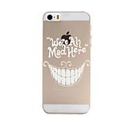 padrão de dentes caso de telefone material de pc para o iphone 5 / 5s