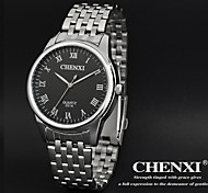 CHENXI® Men's Dress Watch Classic Design Silver Steel Strap Wrist Watch Cool Watch Unique Watch