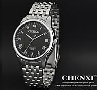CHENXI® Men's Dress Watch Classic Design Silver Steel Strap