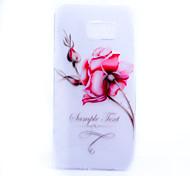 motif de fleurs mince matériau TPU étui transparent de téléphone pour Samsung Galaxy Note 5 / la note 5 bord